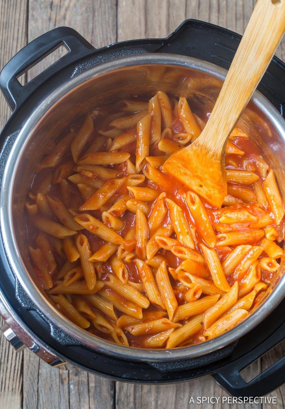 How to make instant pot shrimp pasta with vodka sauce