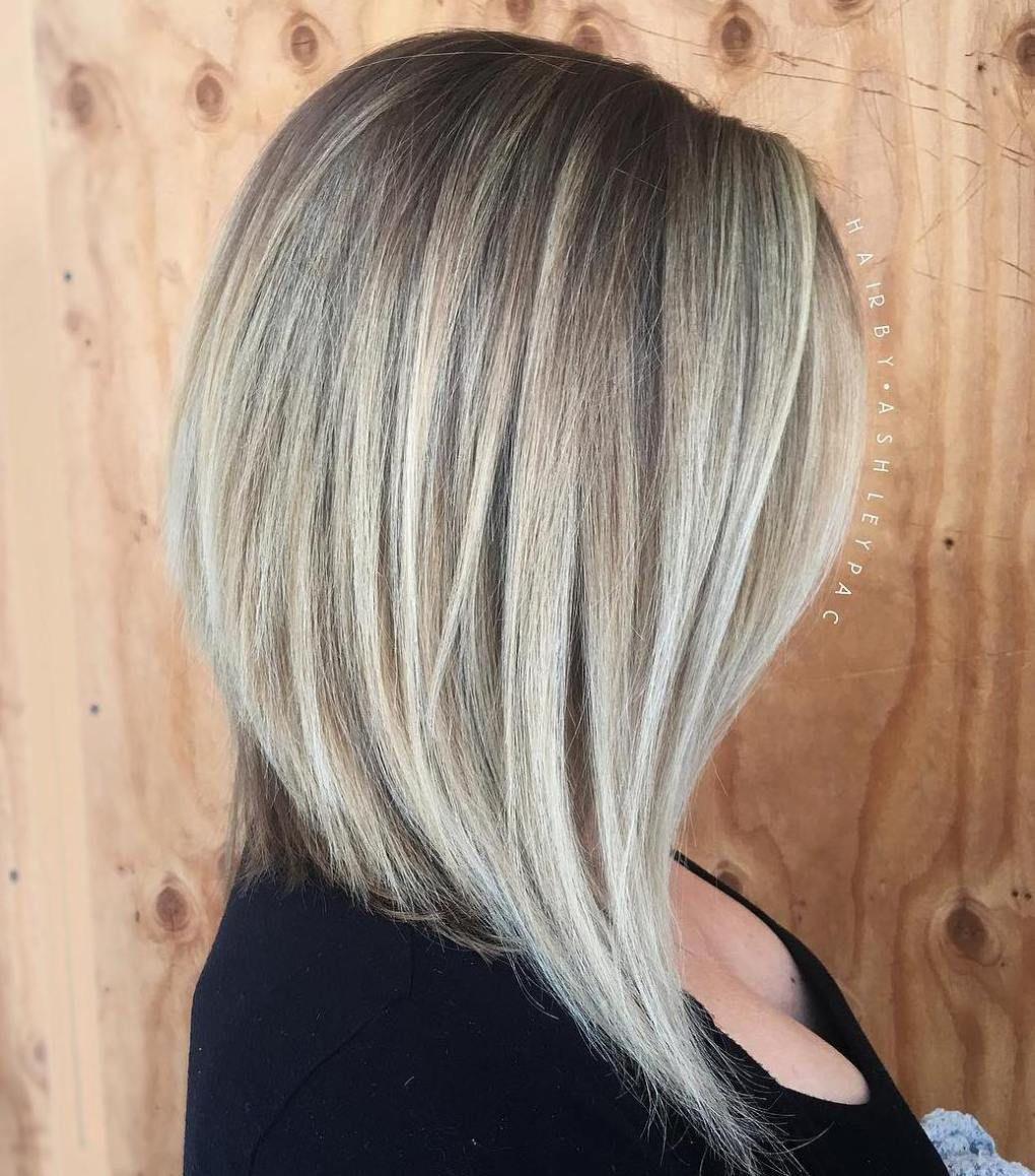 Frisur bob lang blond