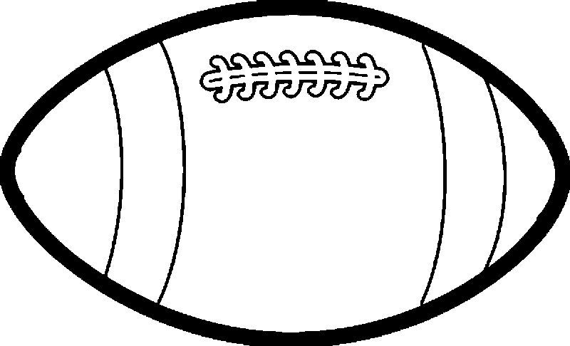 Large Rugby Ball Playing Football Coloring Page See The Category
