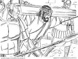 Bible Coloring Pages  New Testament  Jesus crucifixion Bible