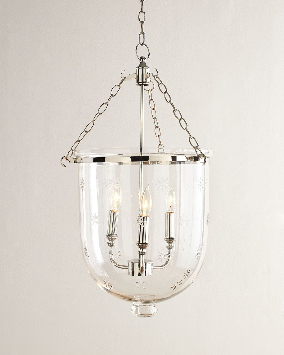 neiman marcus lighting. Dannica Etched Three-Light Pendant, Clear - Neiman Marcus Lighting M