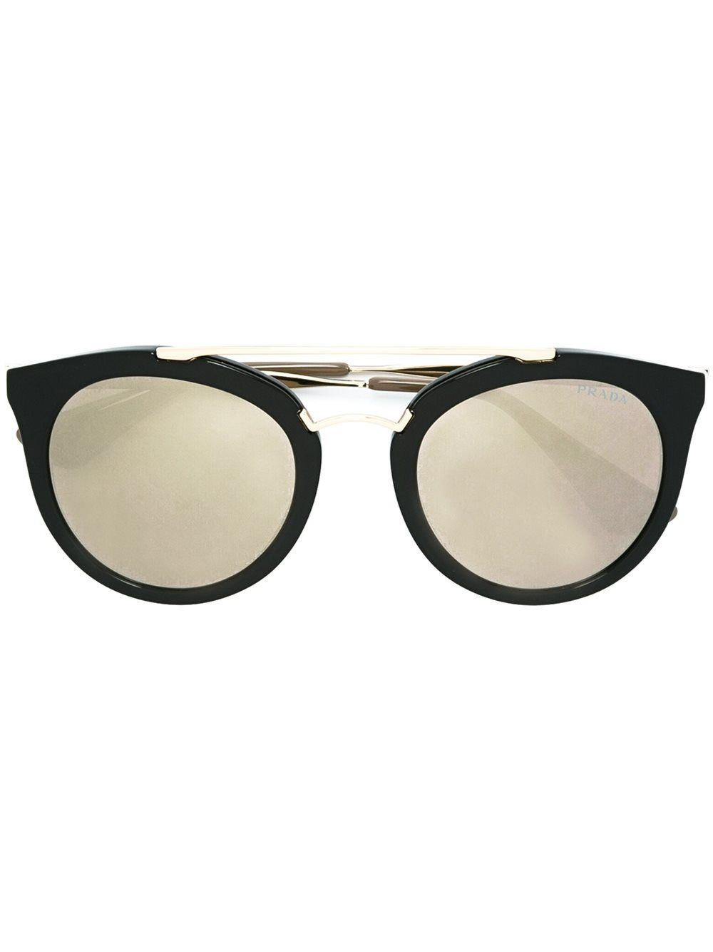 f3d5b0ac9db7 low cost prada eyewear round frame sunglasses black gold women  accessoriesprada glasses optical expressdesigner fashionprada eyewear