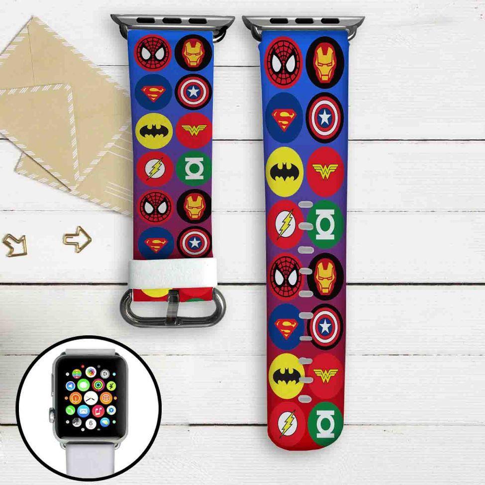 MArvel and DC Comics Superheroes Logo Custom Apple Watch