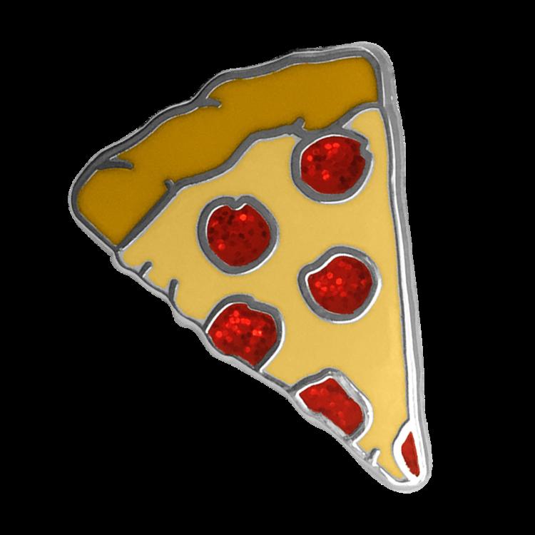 Pizza Emoji Pin With Glitter Emoji Pin Pizza Emoji Emoji