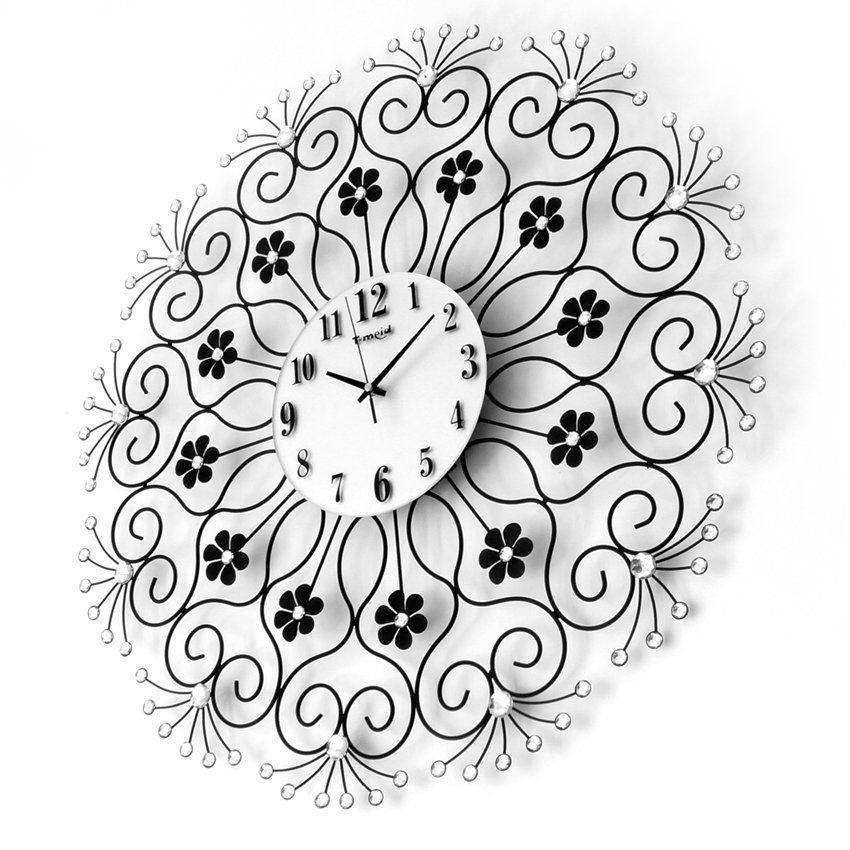 Nowoczesny Zegar Scienny Nextgeneration Diamond Clock Wall Clock Diamond