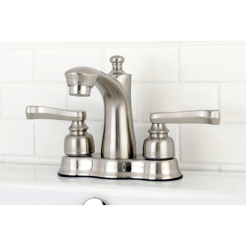Royale Centerset Double Handle Lavatory Faucet with Drain Assembly