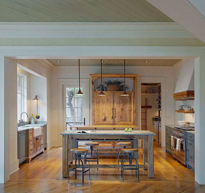 Fitted Kitchen Interior Designs Ideas Kitchen Cabinet: Two Toned Kitchen. Two Toned Farmhouse Kitchen. Farmhouse