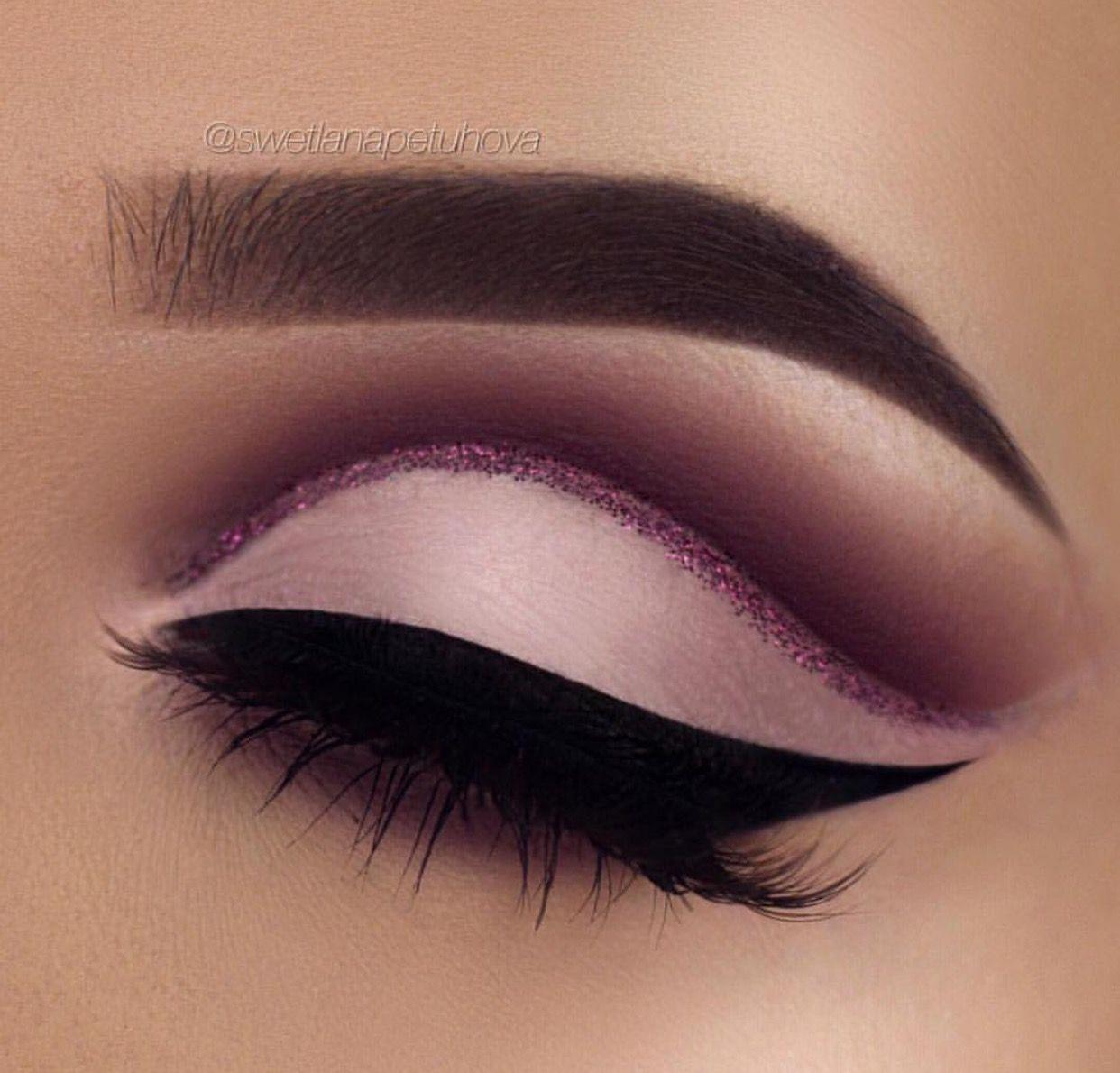Pinterest humanwithart makeup pinterest make up eye matte eye makeup with a pink glitter line ladystyle baditri Choice Image