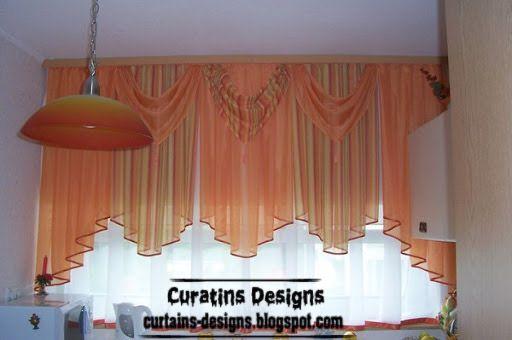 Charmant Modern Orange Curtain, Valance For Girls Bedroom Windows