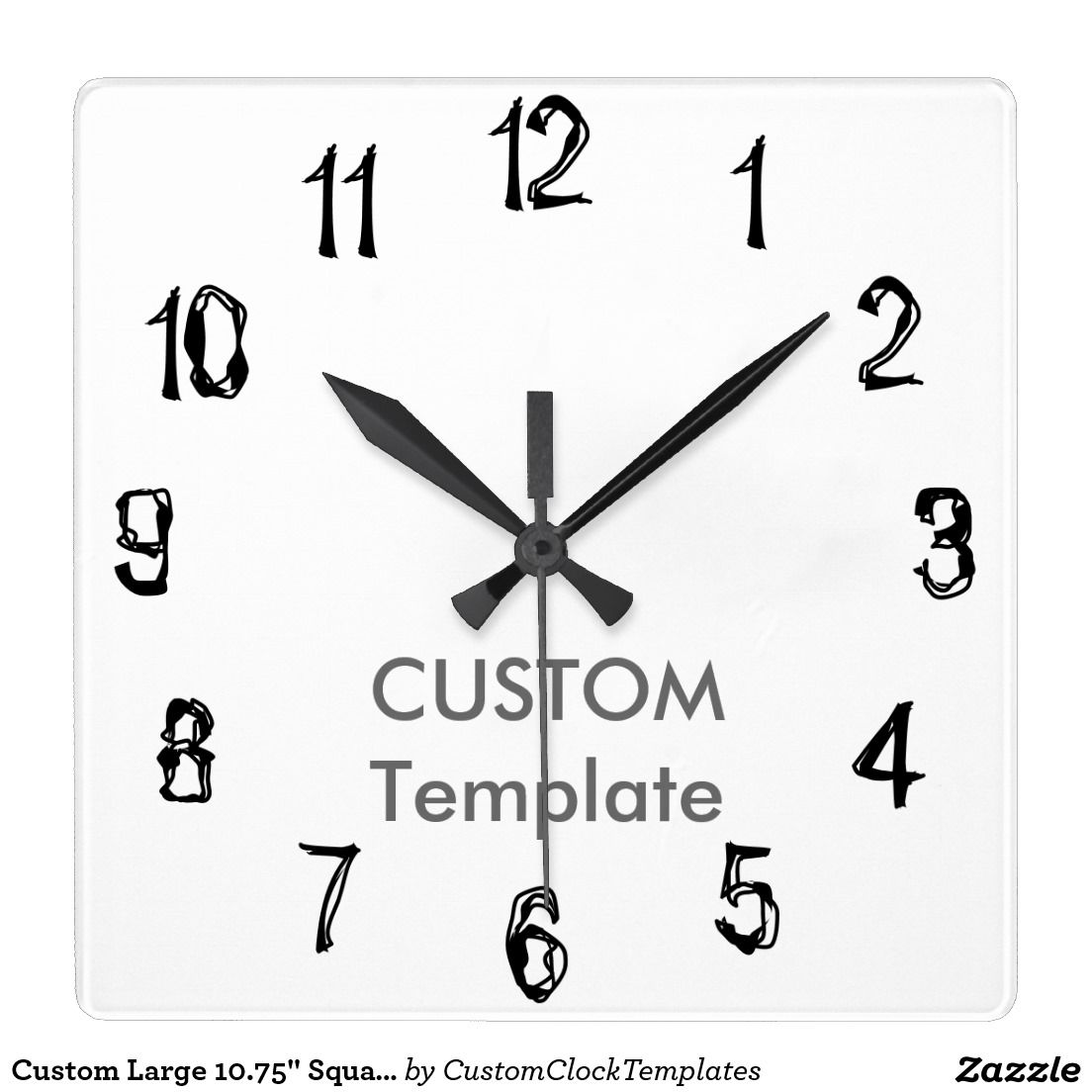 Custom Large  Square Wall Clock Ugly Stick R  Custom Clock