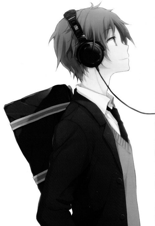 Anime Boy Headphones Uniform School Dark Hair Anime Guys Please Tell Me The Name Of This Anime And Or Character If He Is One If Y Anime Anime Art Risunki