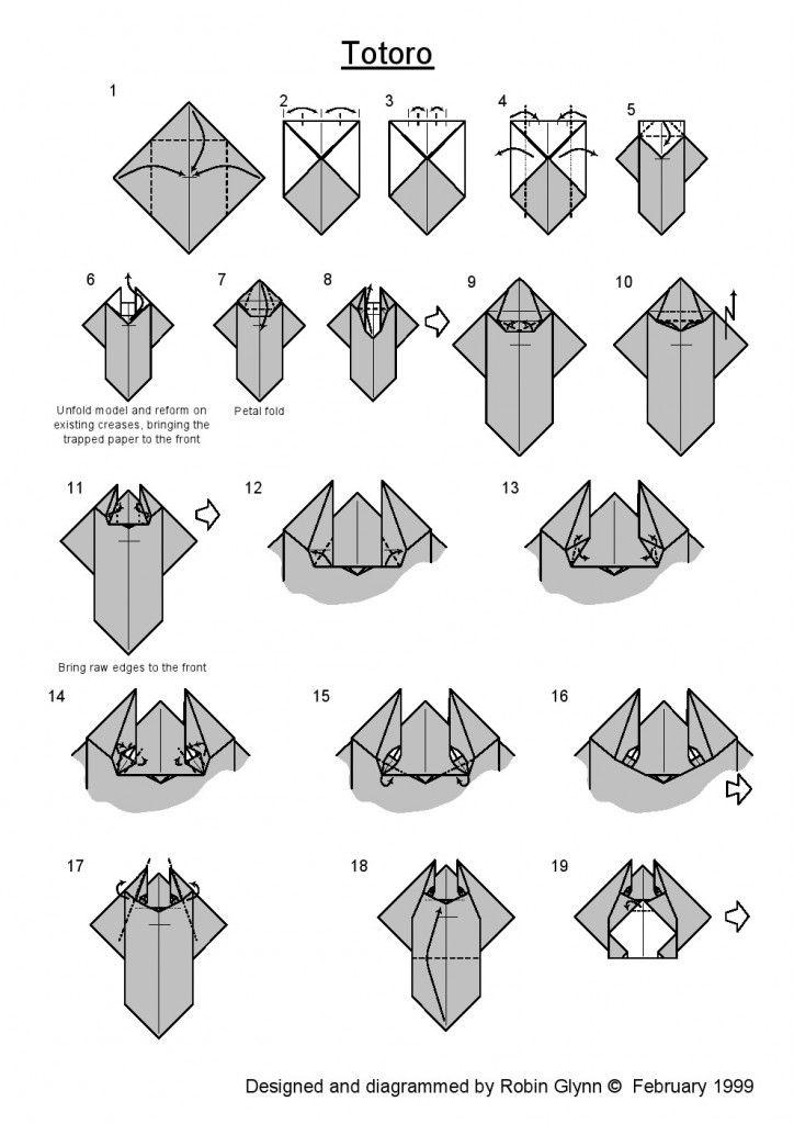 origami totoro 1