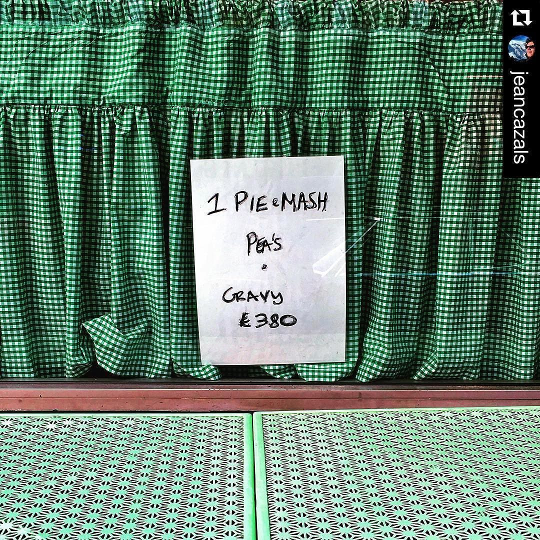 #Repost @jeancazals with @repostapp.  14:05 pm #golborneroad #london #street #pieandmash #shop . An #era almost gone ! #english #institution #foodporn #graphic #green #restaurant .Having #lunch at @GolborneDeli with MA. #foodphotography #art #oggl #instafood #style #iphone by rbkcmarkets