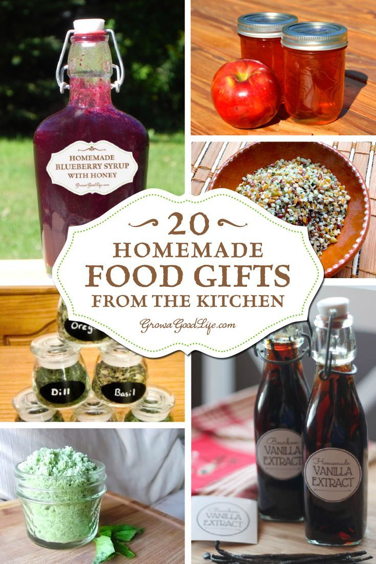 20+ Homemade Food Gifts from the Kitchen | Homemade, Kitchens and Gift