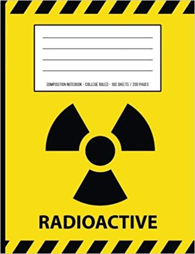 Radioactive Warning Periodic Table Chemistry Composition Notebook