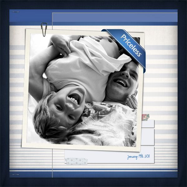 Cool simple layout on boys/brothers by Tracy Little using Socialite, a Ztampf! Facebook Fans Exclusive Kit