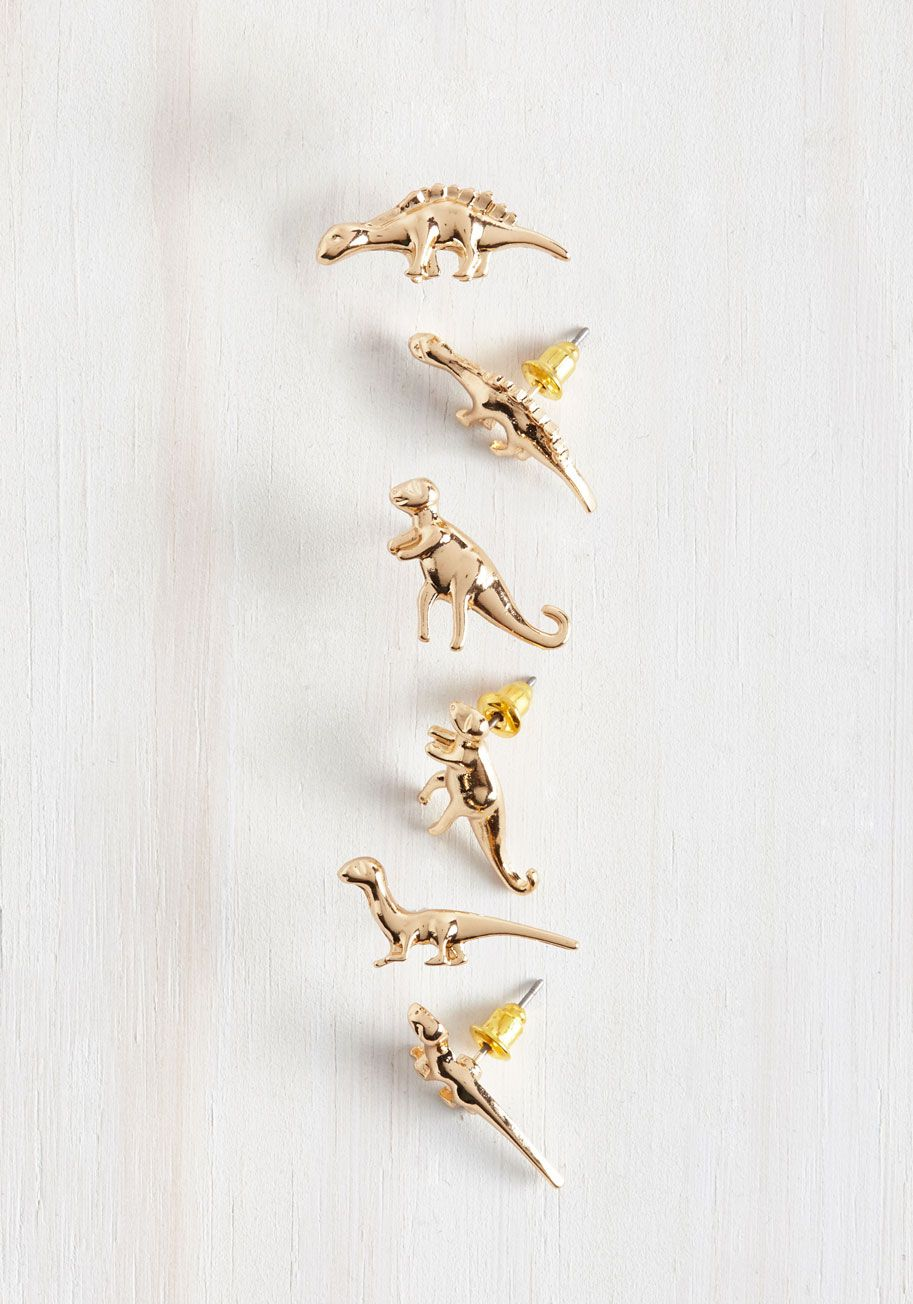 Dino Doubt About It Earring Set, @modcloth