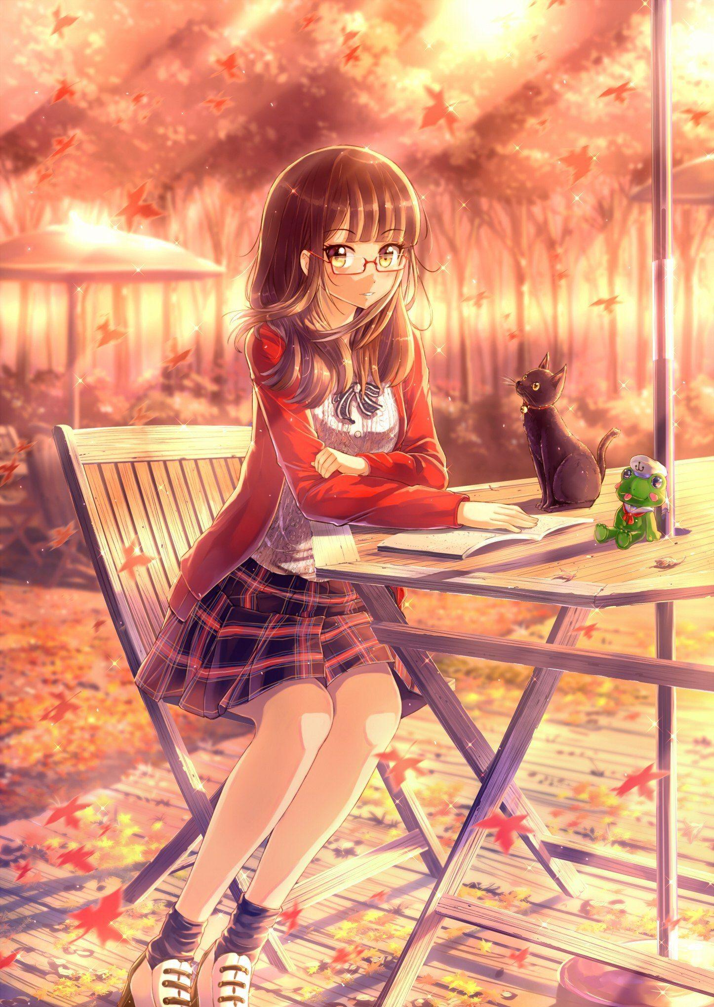 Девочка арты аниме