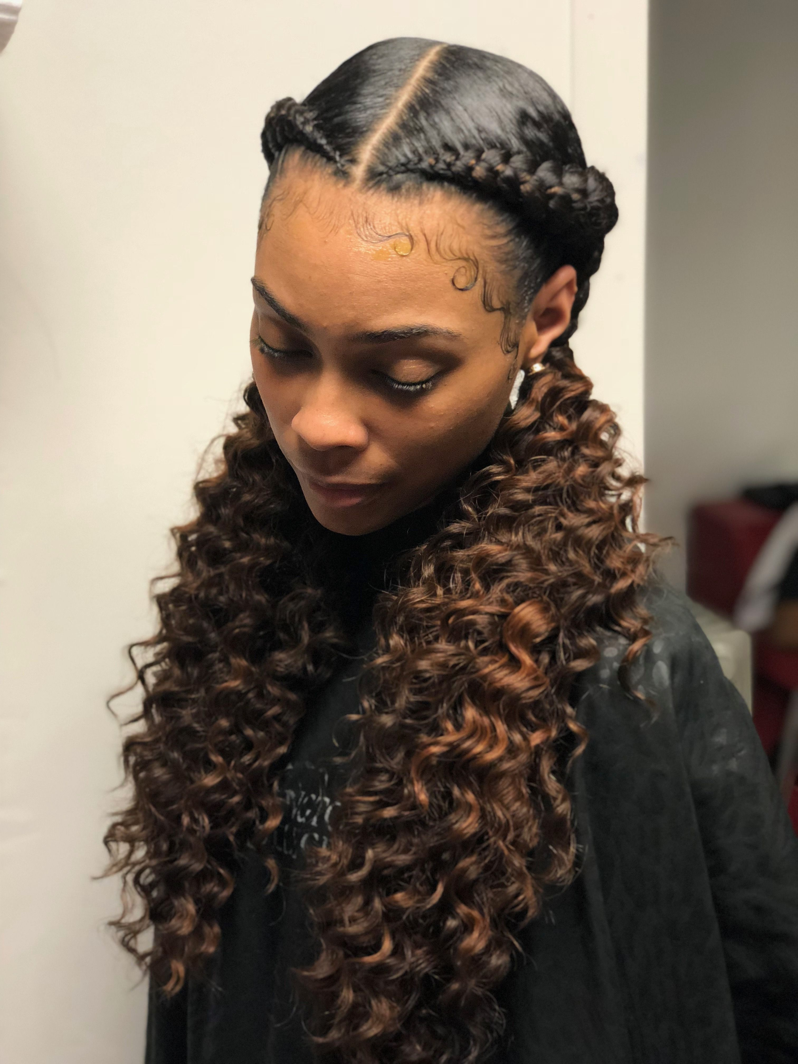 Curly Hair Volume Products Jamaican Curly Hairstyles Curly Hairstyles Everyday Curly Hairstyles In 2020 Hair Styles Natural Hair Styles Braided Ponytail Hairstyles