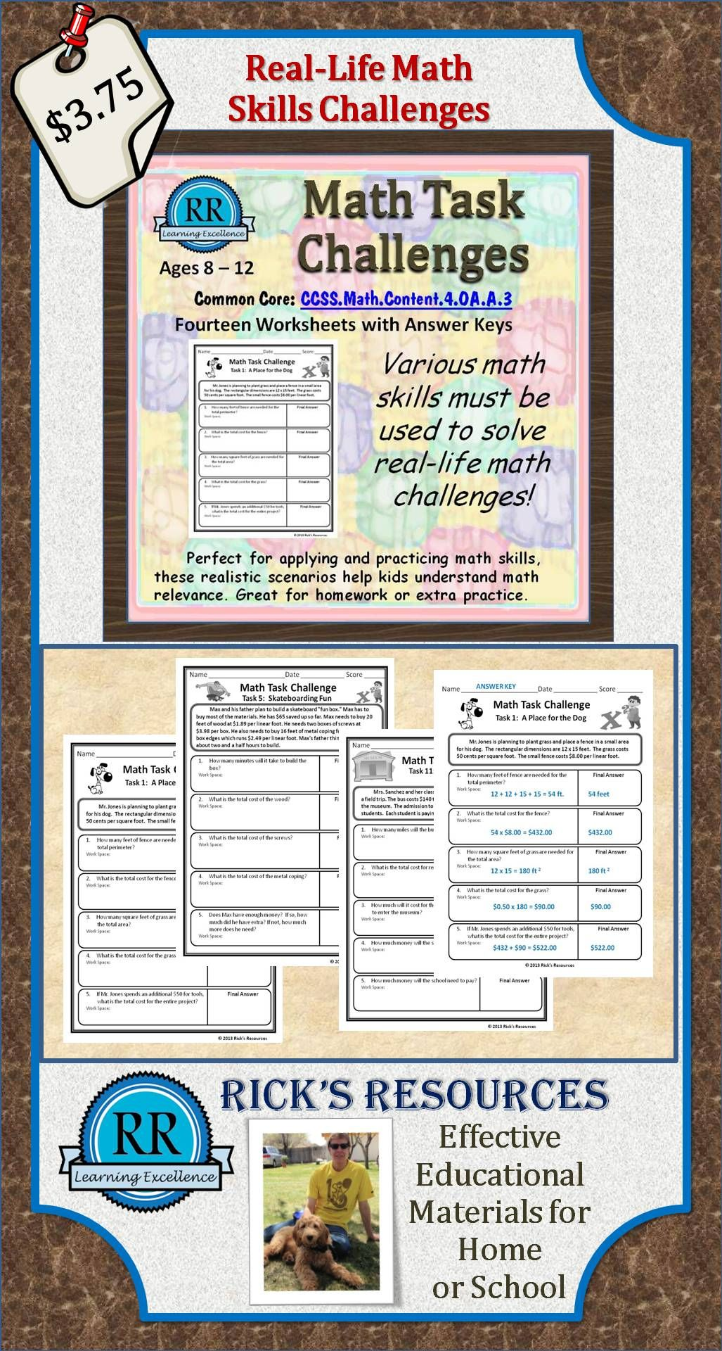 Math Word Problem Worksheets