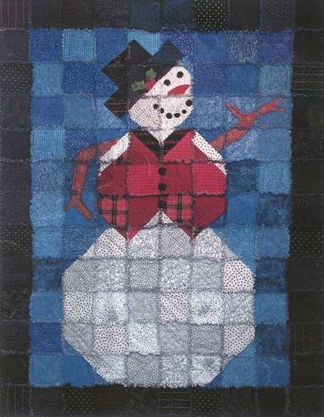 Frosty The Snowman Rag Quilt Pattern By Karla Alexander In Two