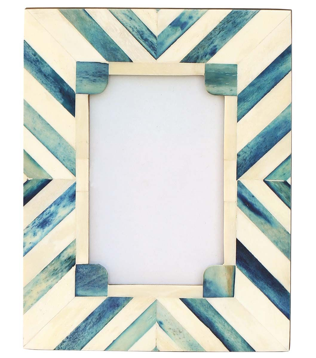 Bulk Buy 4x6 Inches Blue & White Picture Frame – Wholesale Handmade ...