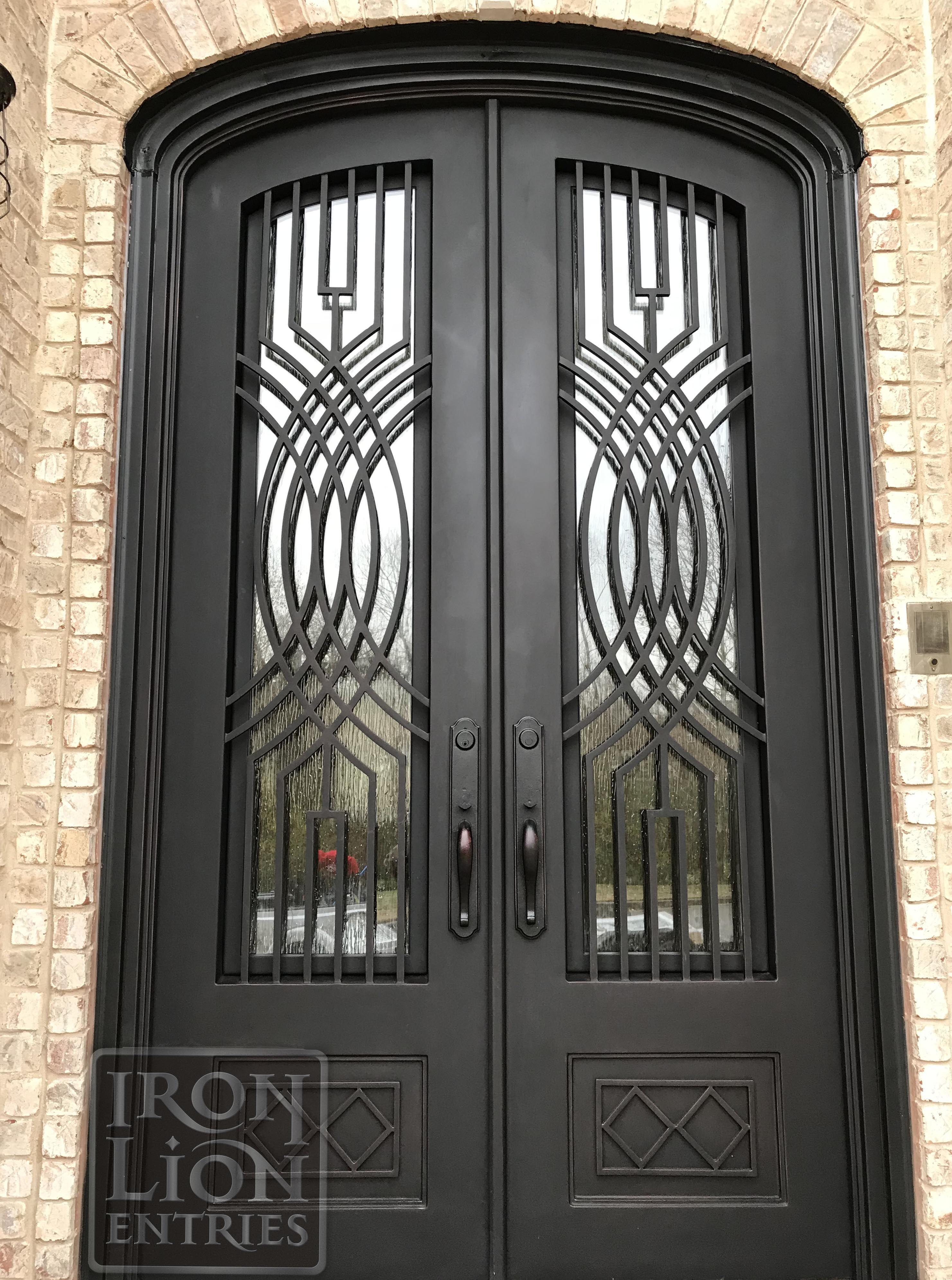 Double Doors Iron Lion Entries Iron Door Design Iron Front