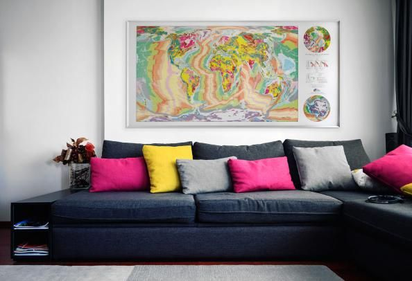 Future Mapping Company World Geological Map from the Future Mapping Company | Deco mag