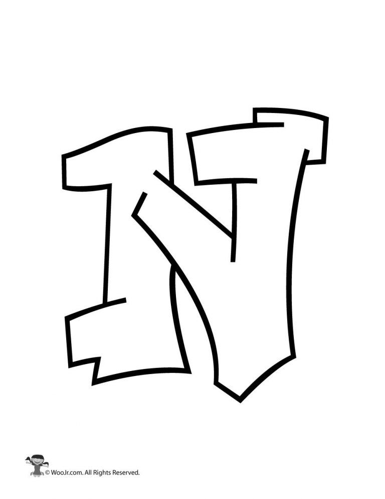 Graffiti Capital Letter N In 2019 Graffiti Graffiti Lettering