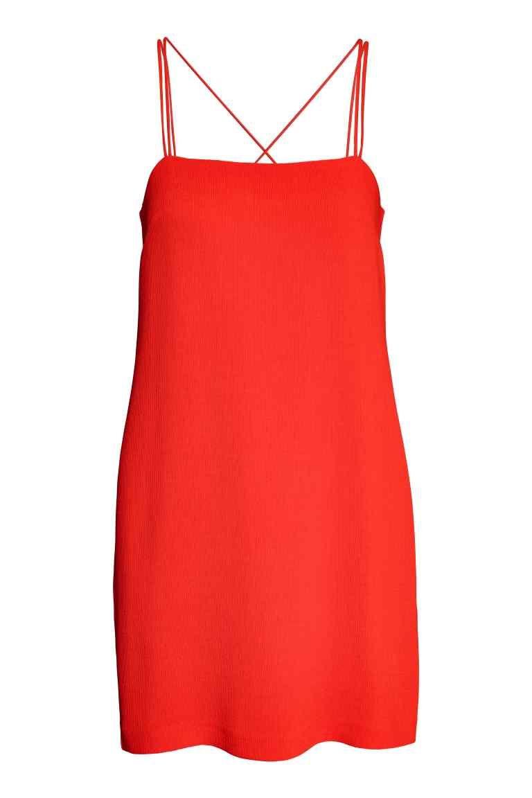 Kuviopintainen mekko - Punainen - Ladies | H&M FI