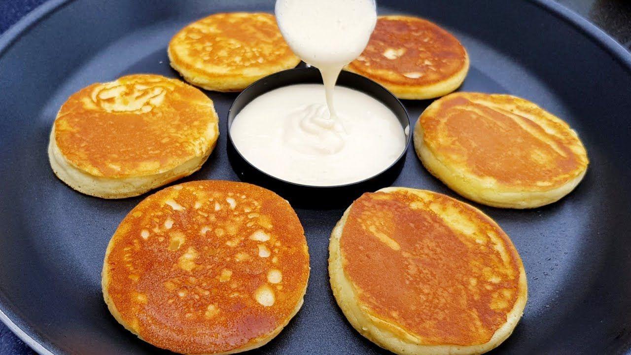 اسرع واسهل فطائر قطنية خفيفة هشة من اروع مايكون لفطور الصباح فطائر جابونية Pancakes Food Breakfast