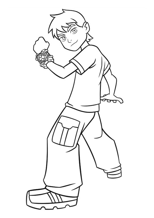 Kidslikecoloringpages Coloring Pages Ben 10 Page