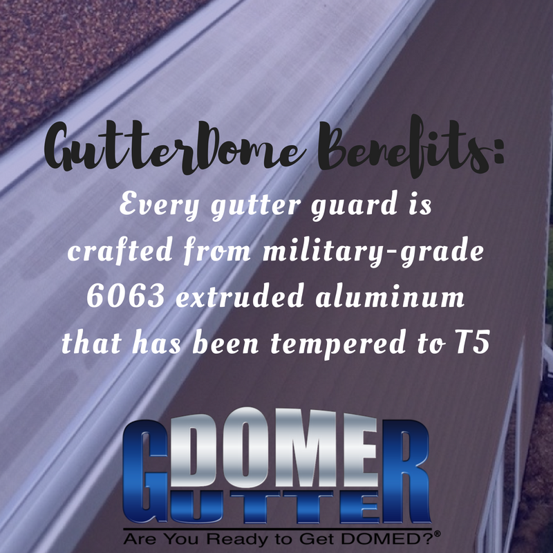Gutterdomebenefits Our Gutter Protection Products Boast Superior Strength As Compared To Gutter Guards From Other M Gutter Protection Gutter Cleaning Gutters