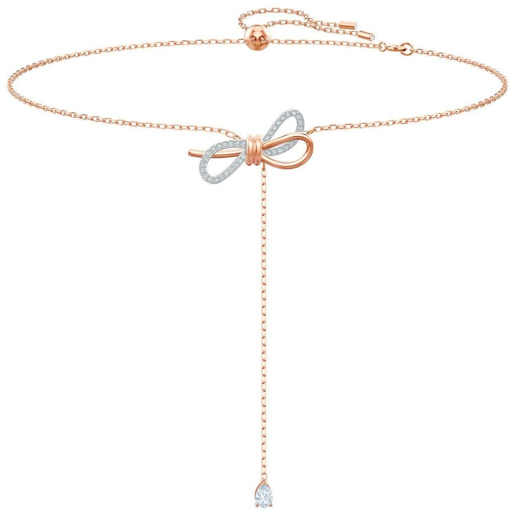 ca4dd09eb94c4 Swarovski Lifelong Bow Y Necklace, White, Mixed plating, 5447082 in ...