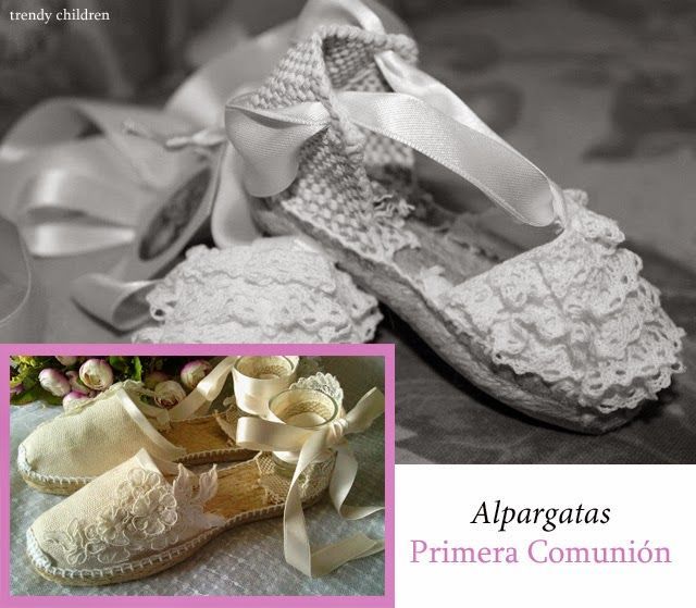 nueva llegada a8a4d f9737 trendy children: ALPARGATAS PRIMERA COMUNIÓN   COMUNIONES ...