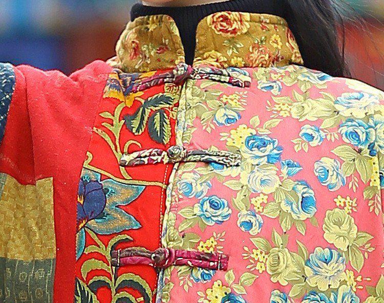 Coat - Mulheres Winter estilo étnico de várias cores impressão Cardigan de algodão de linho longo Overcoat