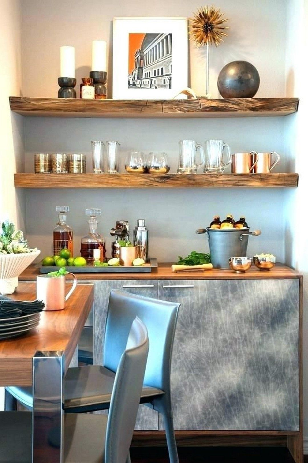 32 Dining Room Storage With Floating Shelves images