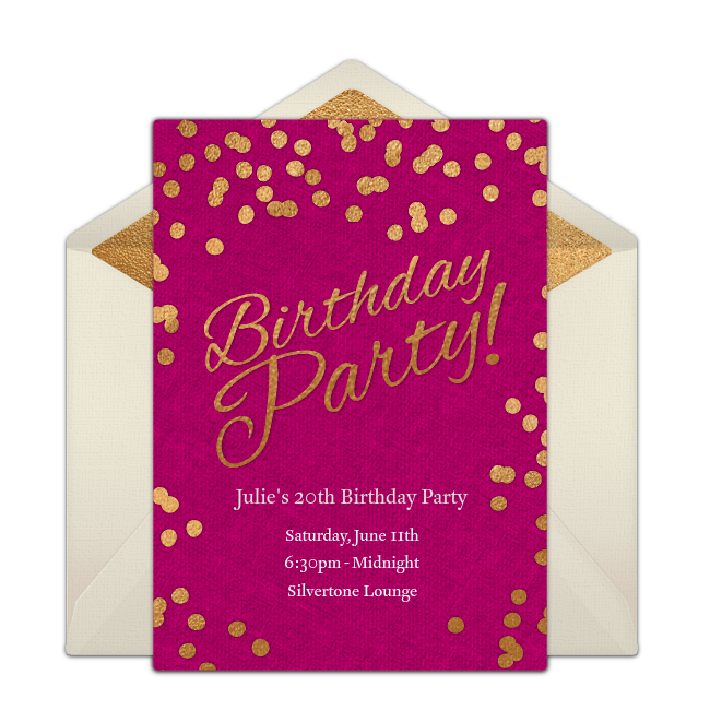 One Of Our Favorite Birthday Party Invitations Easily Personalize And Send Via Email For A Fun Girls