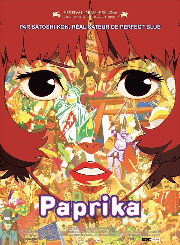 Paprika movie poster Películas de animación, Mejores