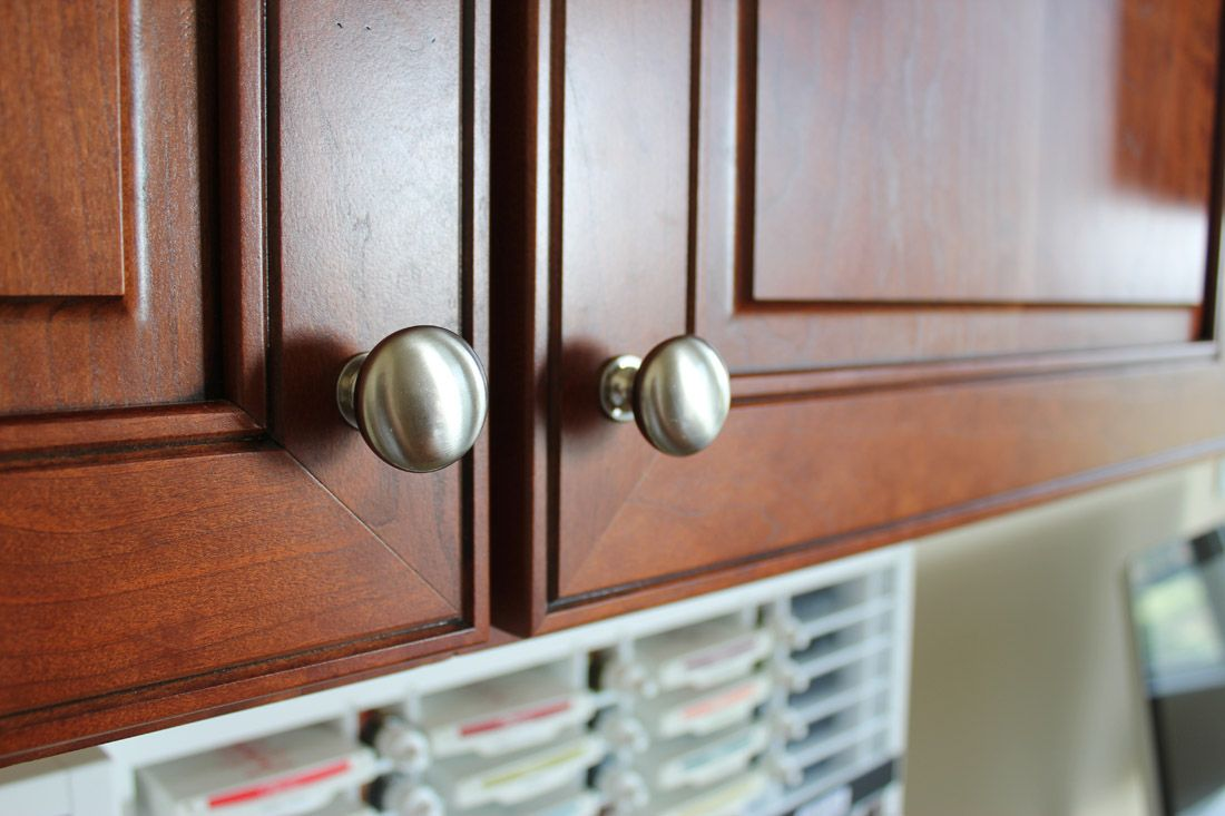 Wellborn Cabinetry, Premier Series, Monterey door style, Cherry ...