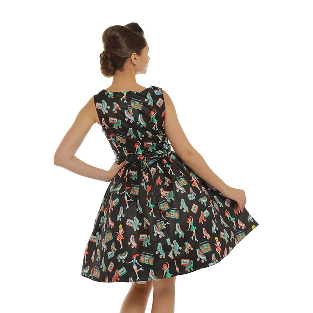 a6d17081810cb5 Audrina' Roller Print Dress | pin up dress i want | Dresses, Vintage ...