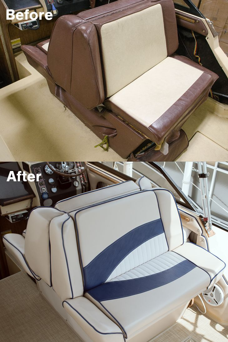 How To Reupholster Back To Back Boat Lounge Seats Boat