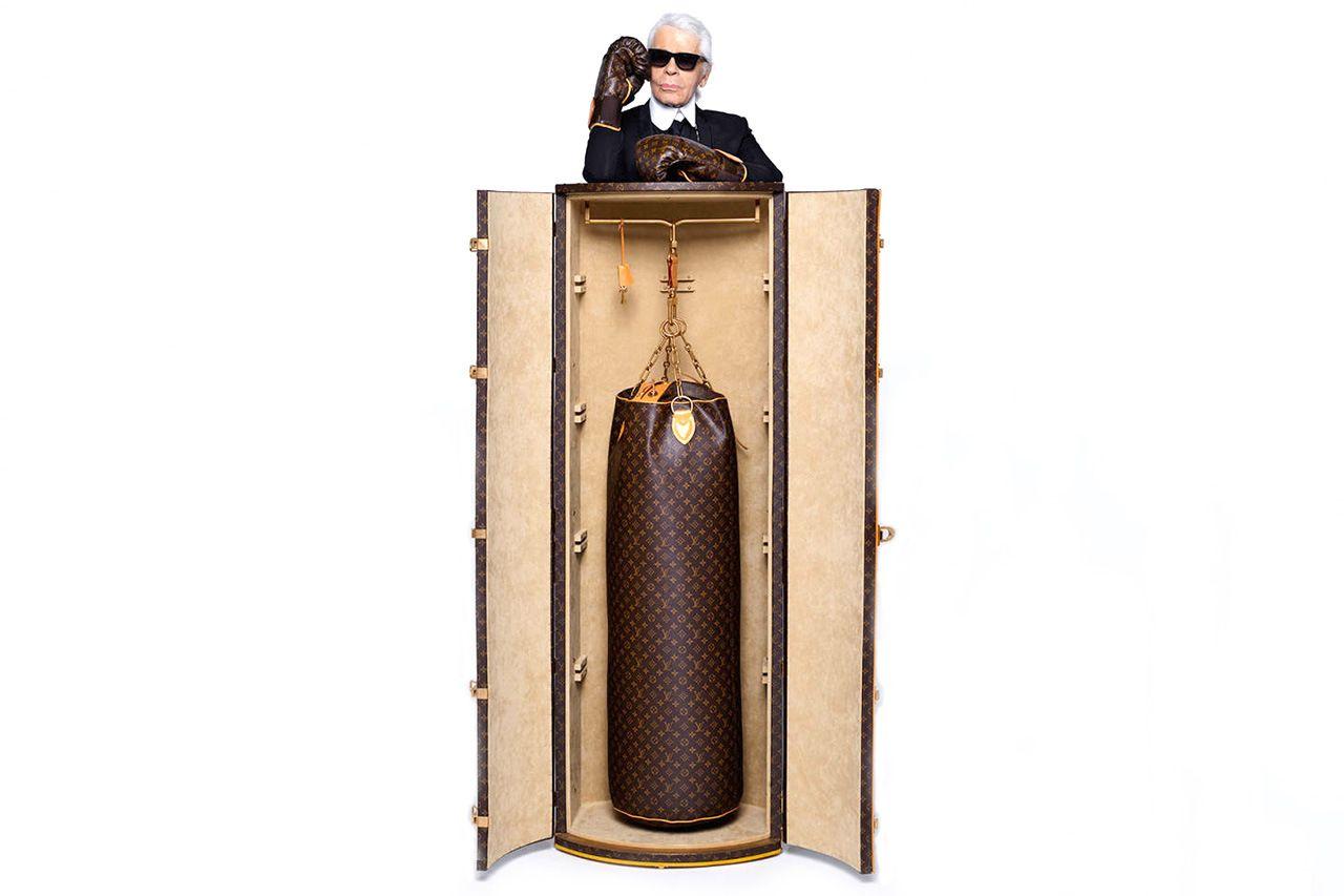 Image of Karl Lagerfeld Designs $175,000 Punching Bag for Louis Vuitton
