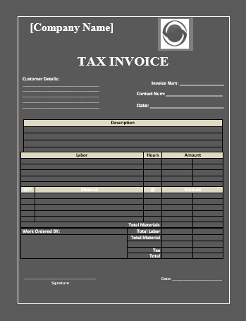 tax invoice template