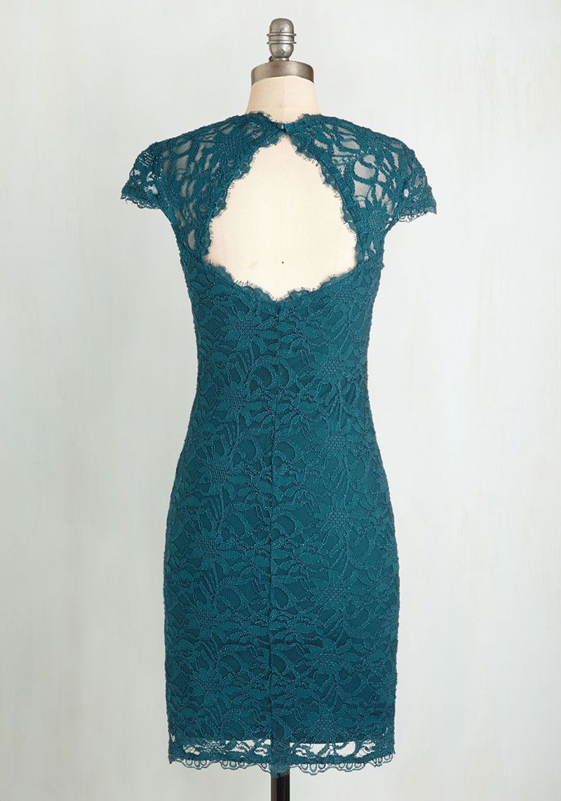 Queen Anne Neck Cap Sleeve Green Lace Sheath Short Bridesmaid Dress ...