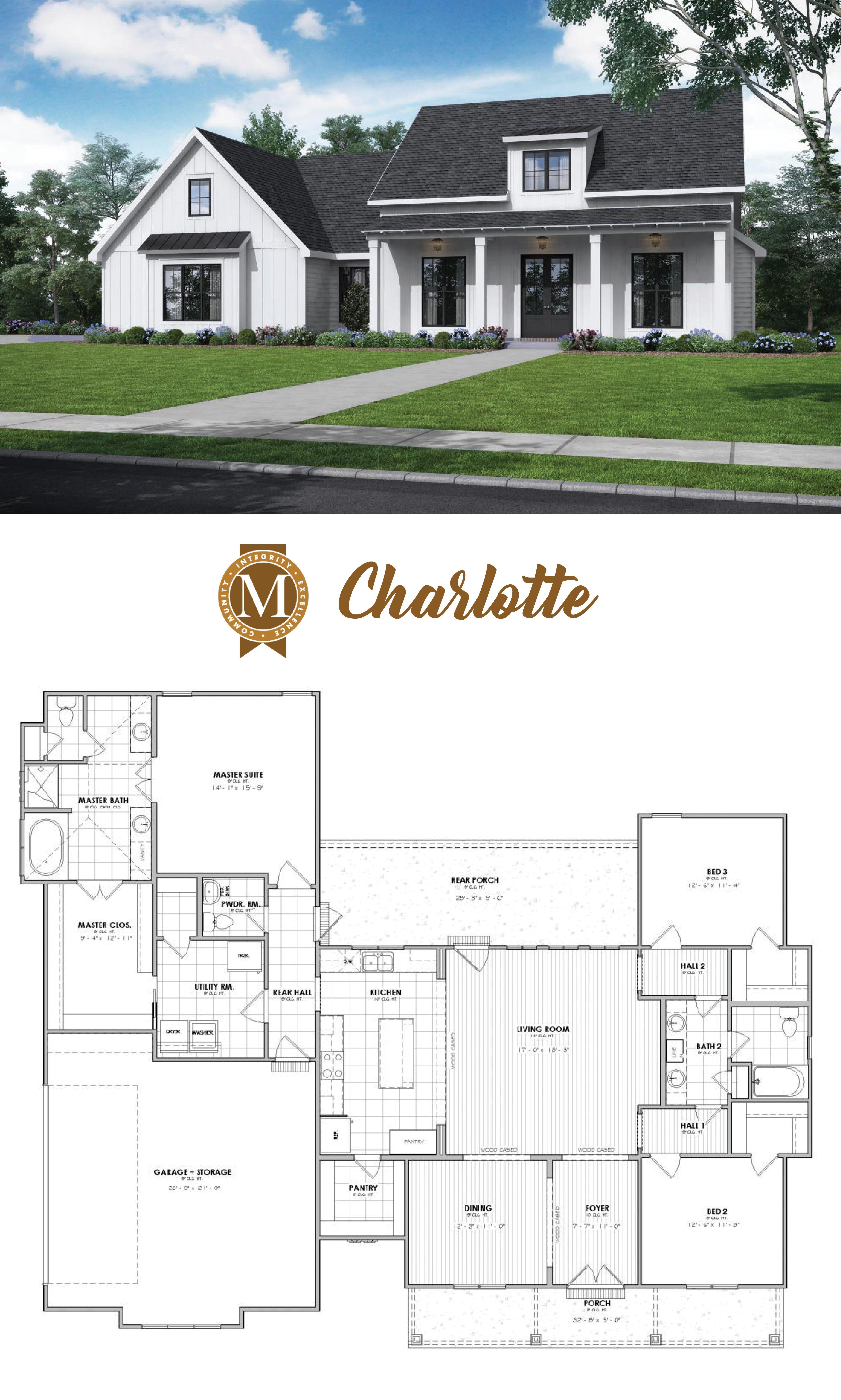 Charlotte floor plan living sq ft 2246 bedrooms 3 or 4 baths 2 5 louisiana lafayette baton rouge lake charles
