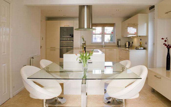 decoración cocina comedor integrado | Cocina | Chaise moderne ...