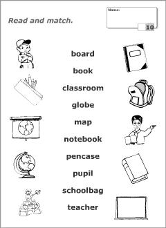 English worksheet: SCHOOL THINGS   Imprimibles   Pinterest ...