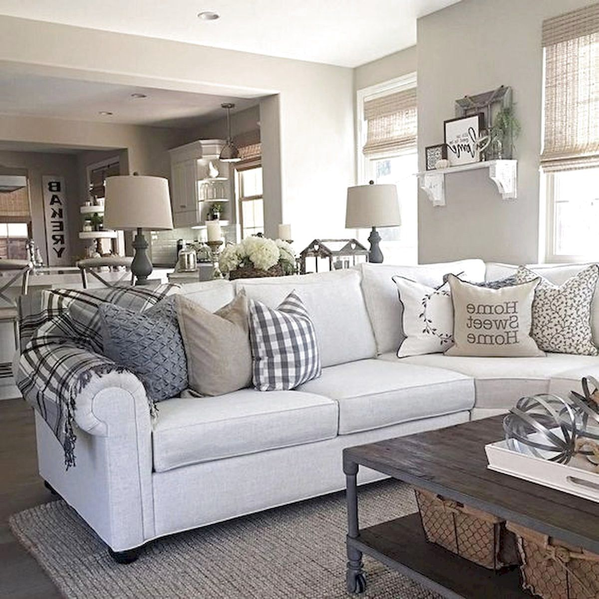 ✓9 Best Farmhouse Living Room Decor Ideas - The Expert Beautiful