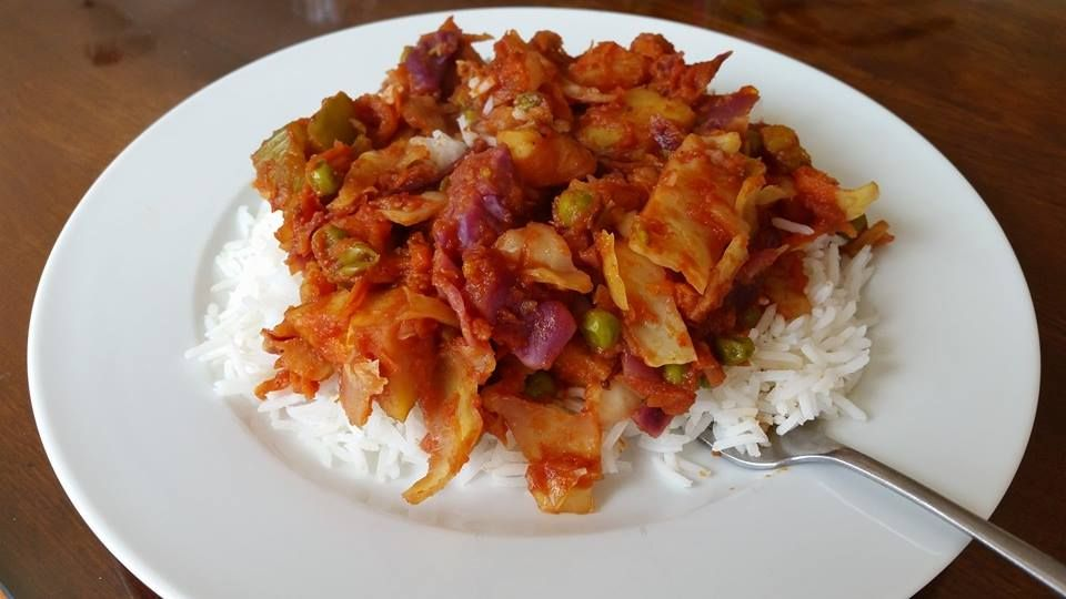 Red Cabbage Sabzi No Oil Vegan Indian Food Recipes Vegan Side Dishes Vegan Dinner Recipes